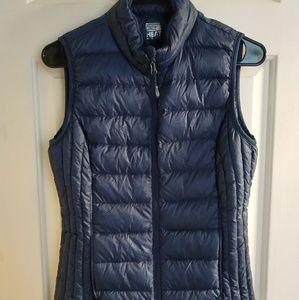 32 Degrees Heat Down Packable Navy Vest Zip Off